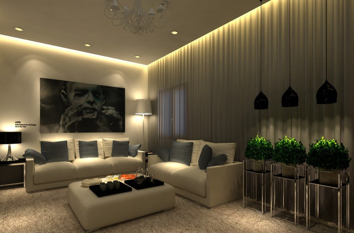 Attractive Living Room Lighting Designs