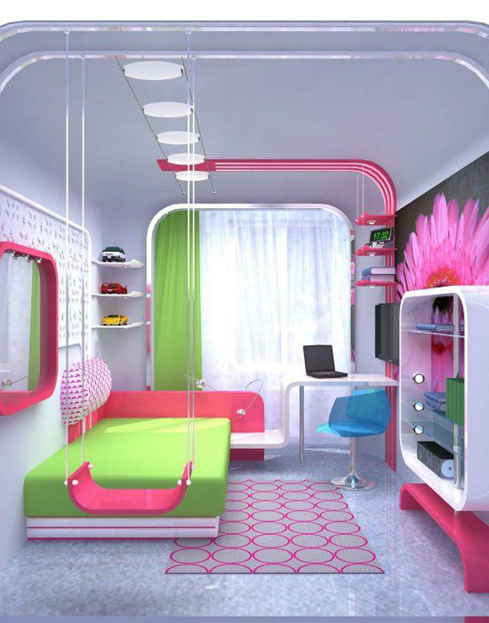 Stylish colorful bedrooms for girls allarchitecturedesigns - Photos of girls bedroom ...