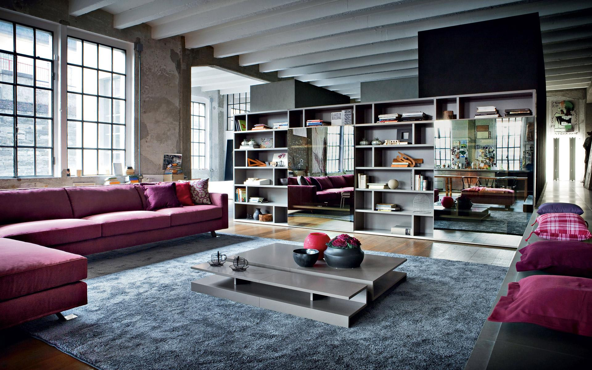Living rooms with stunning tv solutions for Design moderno casa industriale