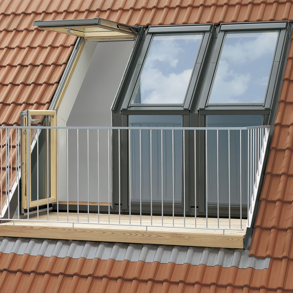 Roof Window Transformed Into A Small Balcony