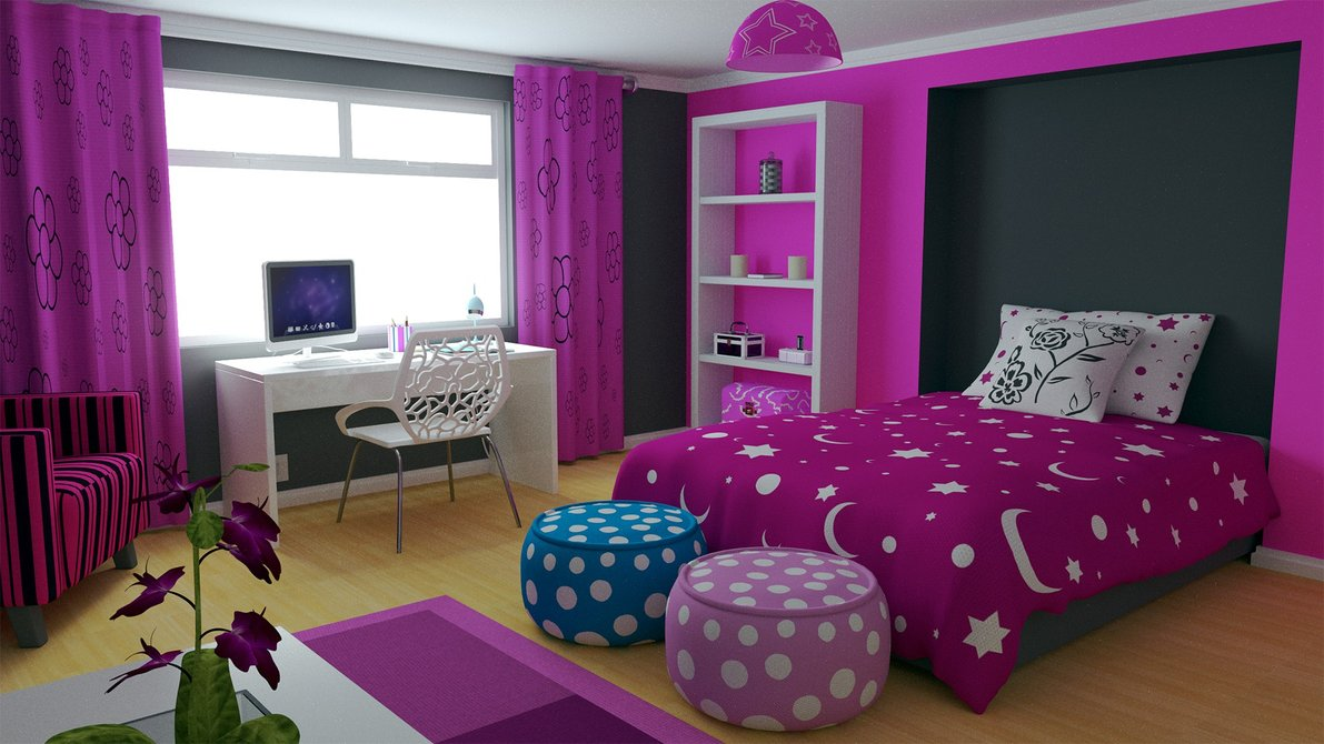 For Girls Bedroom Stylish Colorful Bedrooms For Girls All Architecture Designs