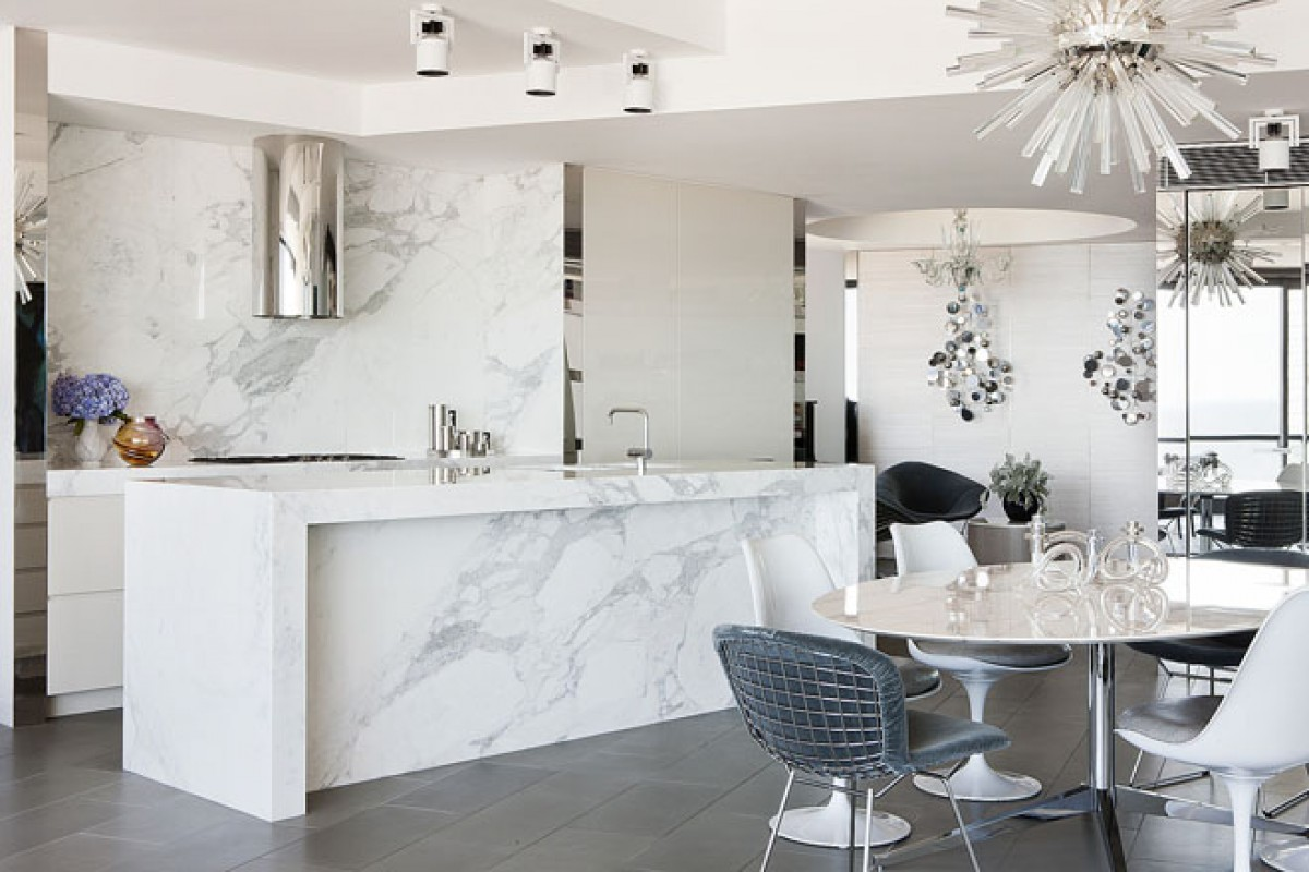 White kitchens bringing a positive energy and freshness for Kitchen wall island