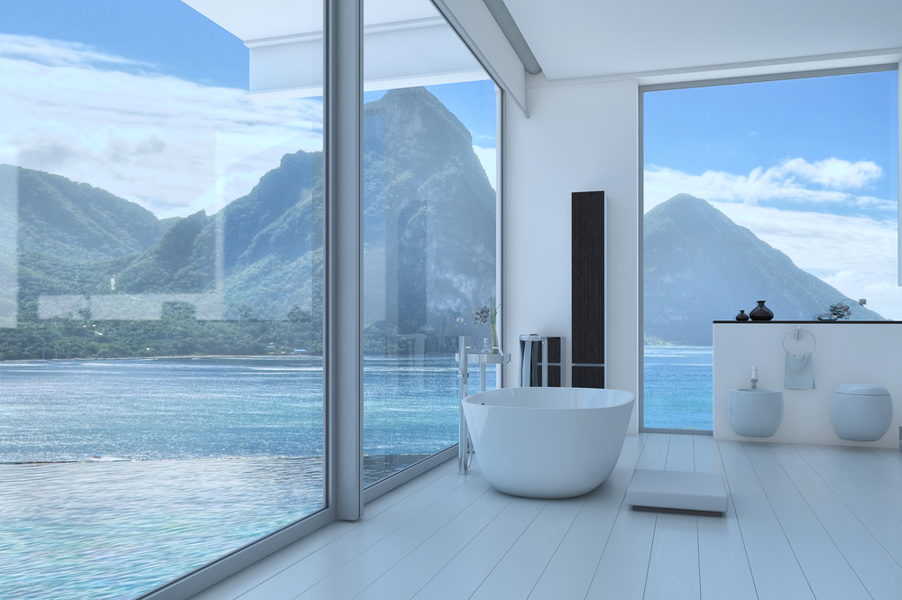 Bathtubs with impressively views allarchitecturedesigns for View bathroom designs