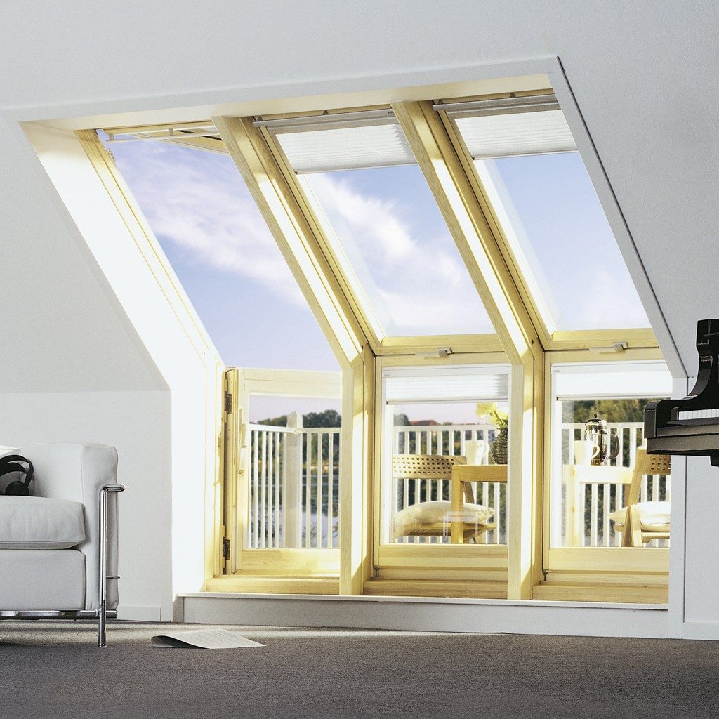 Roof Window Transformed Into A Small Balcony ...