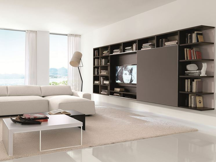 Living rooms with stunning tv solutions for Arredo tv design