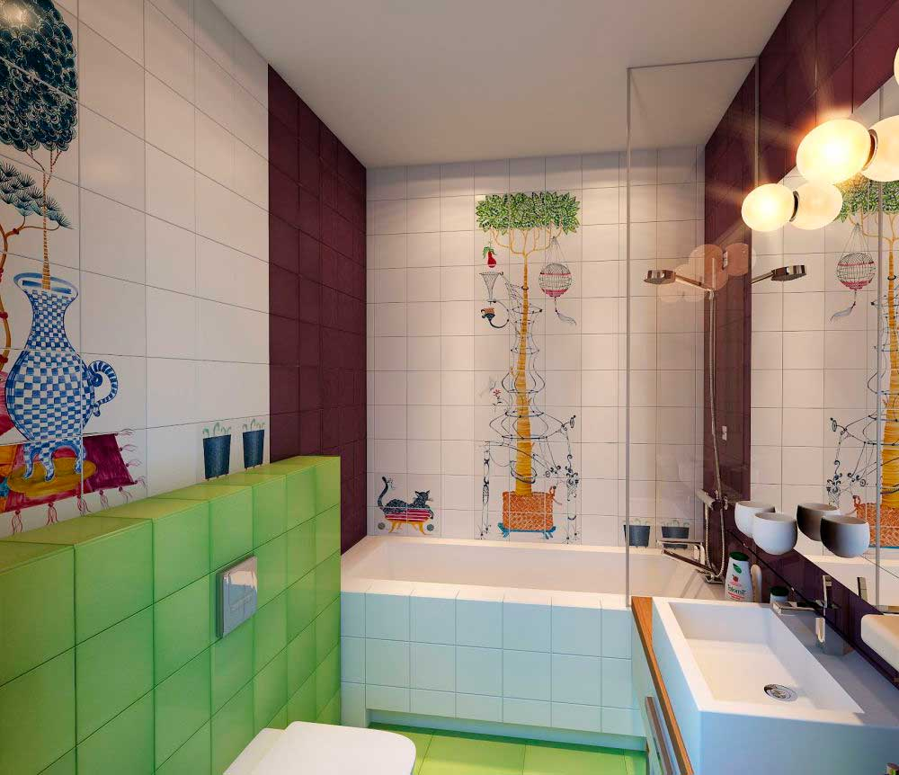 20 colorful kids bathrooms allarchitecturedesigns for Colourful bathroom ideas