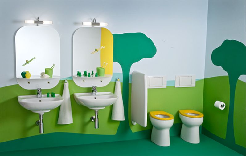 7 Inspiring Kid Room Color Options For Your Little Ones: 20 Colorful Kids Bathrooms