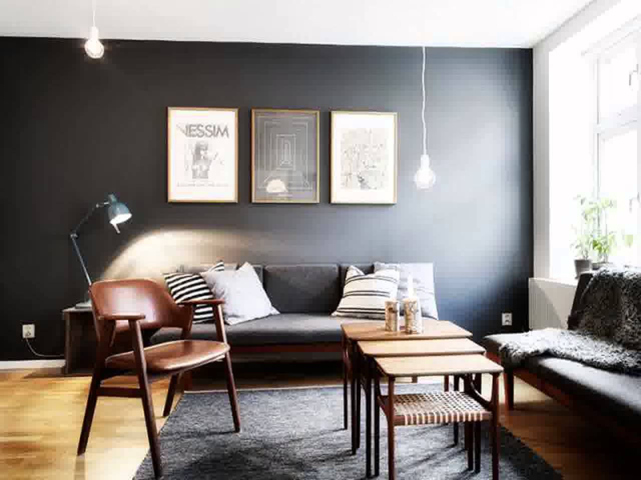 Dark walls that provide a warm and pleasant feeling in the rooms ...