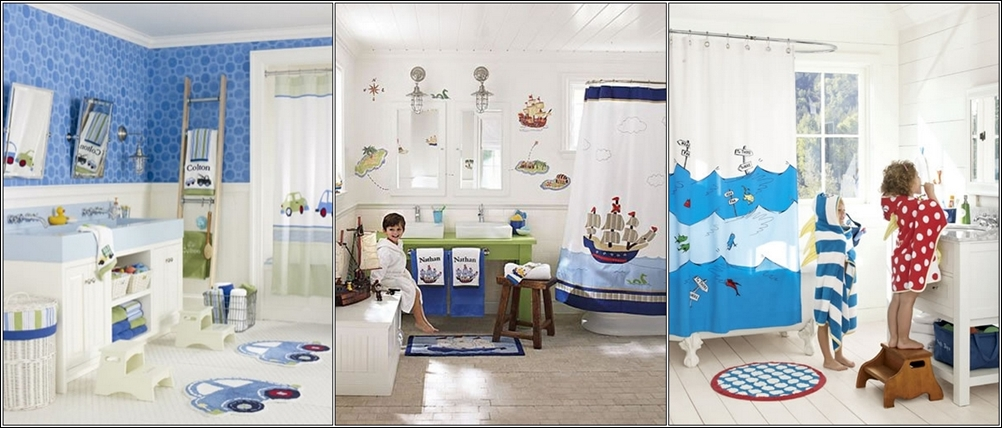 20 colorful kids bathrooms allarchitecturedesigns for Boys and girls bathroom ideas